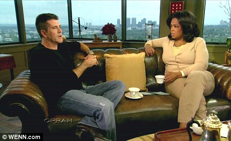 Opening up: Oprah visits Simon Cowell and interviews him for the first time to discuss his departure from 'American Idol'