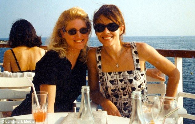 Celebrity friends: Birgit Cunningham with actress Liz Hurley at the Cannes Film Festival in 1998