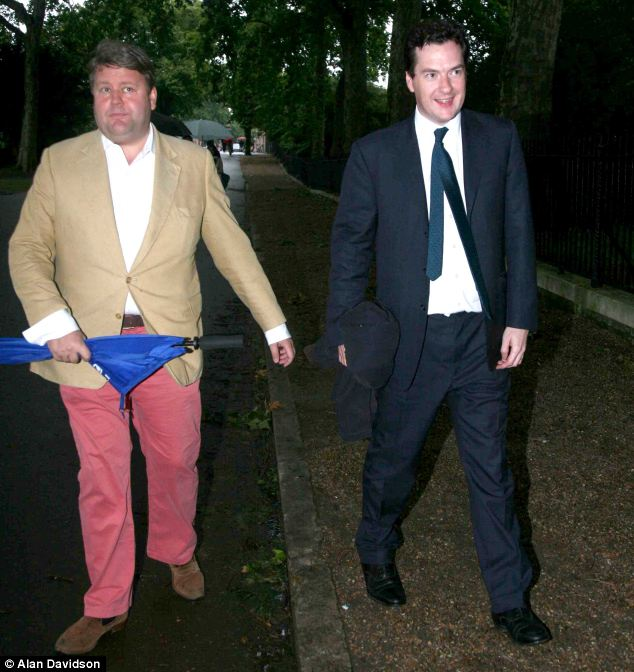 Scandal: Lord Strathclyde and George Osborne attend last year's Conservative Party Summer Ball at The Royal Hospital, Chelsea London