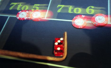 Craps gets its name from 'crapaud', the French for toad, which refers to how people crouched when they played the game