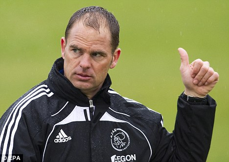 Legend: Frank de Boer took over from Martin Jol at Ajax