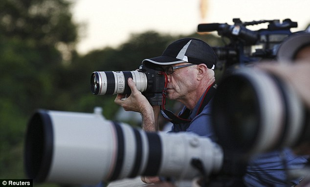Interest: Film crews and press photographers outside Milpark Hospital