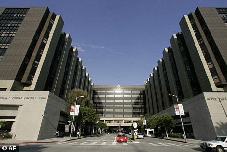 Emergency treatment: Sheen was taken to Cedars-Sinai hospital in Los Angeles