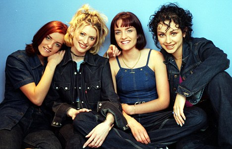 Chart cuties: B*Witched - with former members Lindsay Armaou and Sinéad O'Carroll - in an early photo shoot in 1998