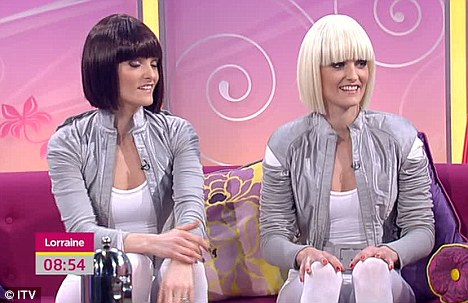 Desperate? Or determined? The former B*Witched twins are back as duo Barbarella and appeared - in space age Gaga attire - in Lorraine Kelly's show to promote their debut single