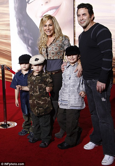 Help: Sheen's neighbour Dr Paul Nassif and wife Adrienne Maloof-Nassif, of The Real Housewives of Beverly Hills, called 911