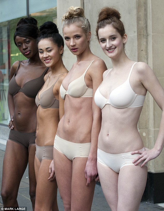 Disappearing act: The underwear is designed to appear invisible under clothes