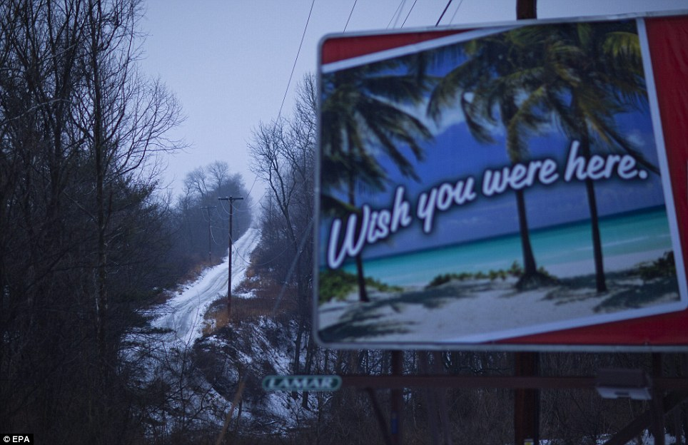 So do we: A Pennsylvania billboard takes on an ironic tone in the wake of the killer storm