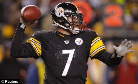 Axed: Pittsburgh quarterback Ben Roethlisberger prepares to throw the football. The team got rid of its cheerleaders in 1970 after an 'organisational decision'