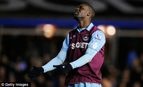 Waiting game: Carlton Cole has scored seven goals overall this season