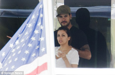 The morning after: Eva Longoria and rumoured new love Eduardo Cruz have spent the weekend together aboard the Utopia III in Miami