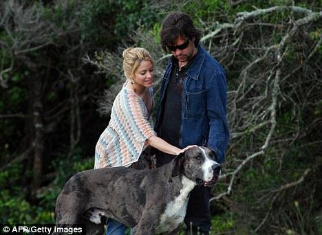 Past love: Shakira recently broke up with Antonio de la Rua, her boyfriend of 11 years