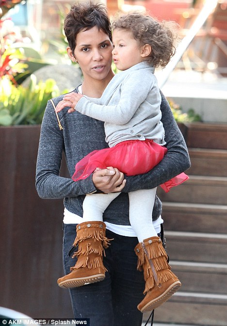 Proud mother: Halle Berry with her daughter Nahla earlier this month