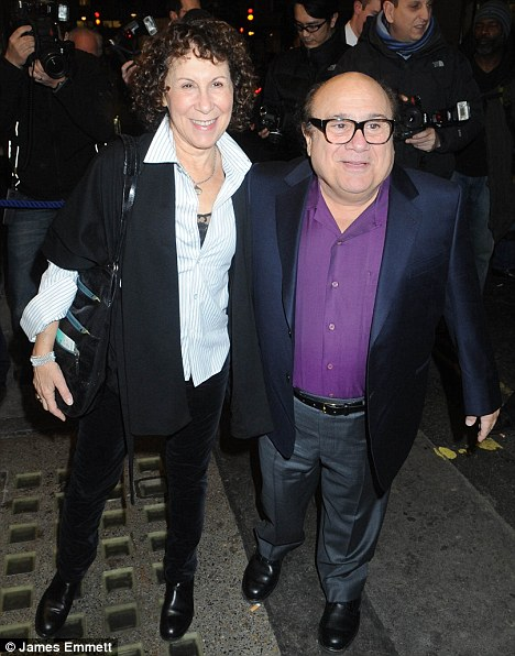 Date night: Hollywood couple Danny DeVito and Rhea Perlman turned up to watch the show