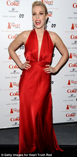 Sirens: Deniser Richards sported a frilled number, while singer Natasha Bedingfield wore a halter neck dress split to the waist