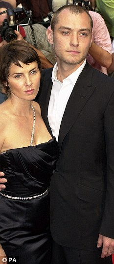 Former wife: Jude was previously married to actress Sadie Frost before they broke up in 2003