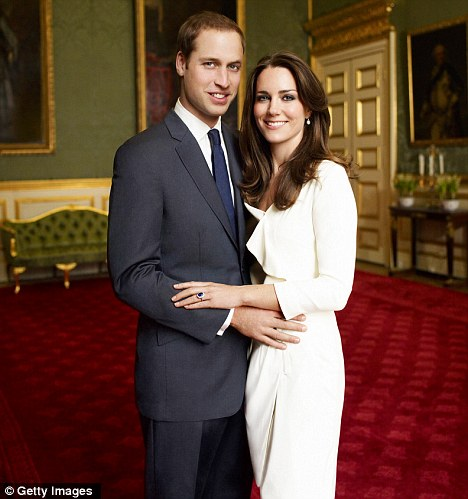 That's more like it: Prince William and Kate Middleton in their normal elegant finery