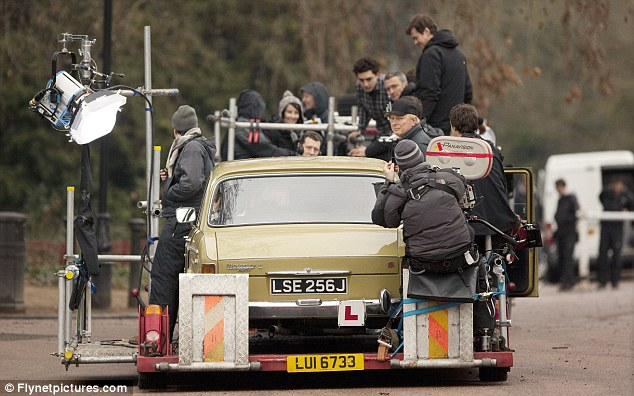 Make way for Maggie: A film crew captures the action