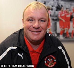 Living the dream: manager Steve Evans