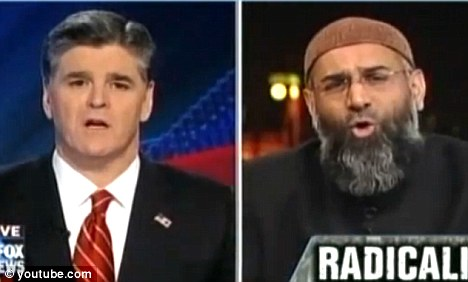 Furious reaction: Cleric Anjem Choudary made headlines when he was interviewed by Fox News presenter Sean Hannity earlier this month