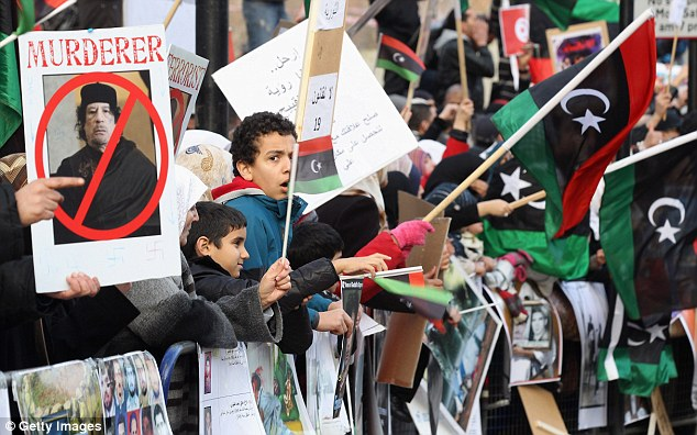 Murderer: Gaddafi's orders to shoot those who rise up against him has been chastised all over the world