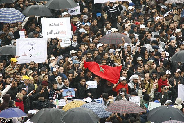Moroccan march: Thousands mass in in the capital Rabat on Sunday