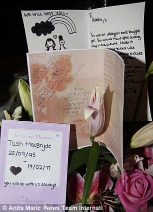 Natasha MacBryde, messages of condolence