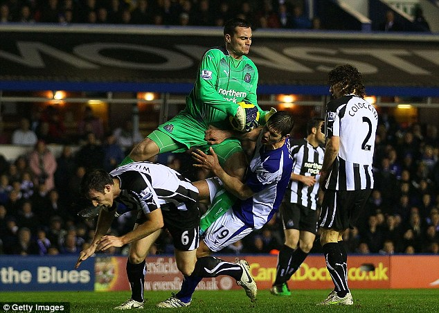 Green giant: After years of waiting in the wings, Steve Harper has established himself as Newcastle's No 1
