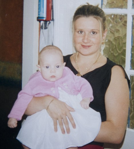 Heart-breaking: Lindsey with Leah when she was a few weeks old