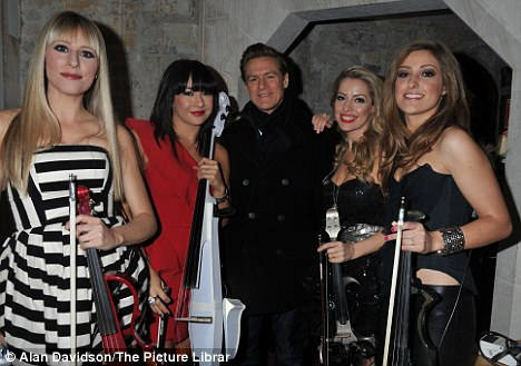 Performing for the Mayor: Rocker Bryan Adams and the all-female classical rock quartet Bond also played at the concert