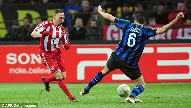 Franck assessment: Ribery skips past Lucio at the San Siro