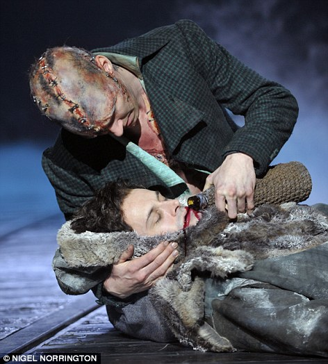 Frankenstein directed by Danny Boyle at the Olivier Theatre Royal National Theatre.