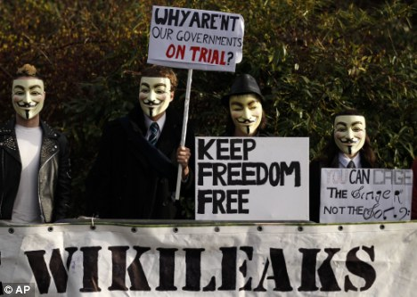 Activists: Assange gets support from campaigners outside the court