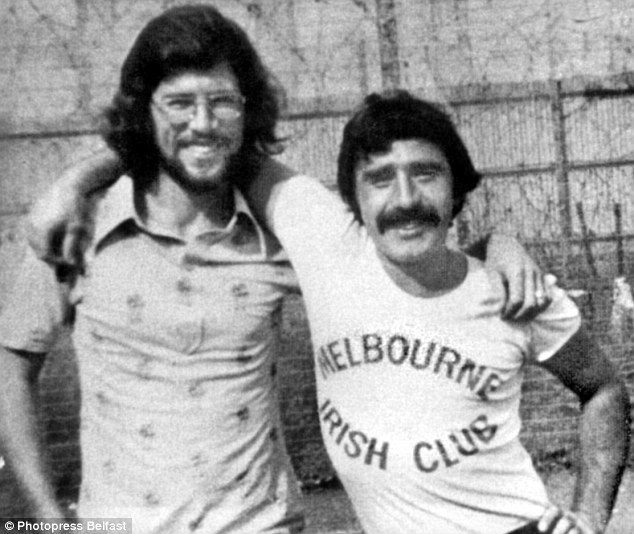 Voice from the past: Gerry Adams, pictured in the early Seventies with his one-time friend Brendan Hughes