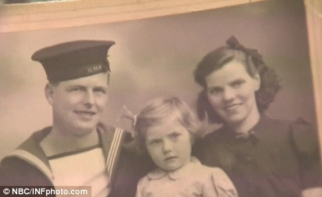 Bigamist: Kim's grandfather George Baugh went on to marry a younger woman less than a year after leaving his family - without getting a divorce