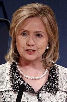 Left: Hillary Clinton