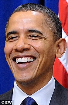 Left: Barack Obama