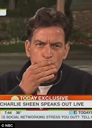 A message to Brooke and his boys: Sheen yesterday told his ex-wife Mueller to tell him where his sons are, and then blew them a kiss