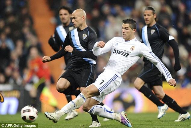 Hat-trick hero: Ronaldo's impressive season continued with a treble in the win over Malaga