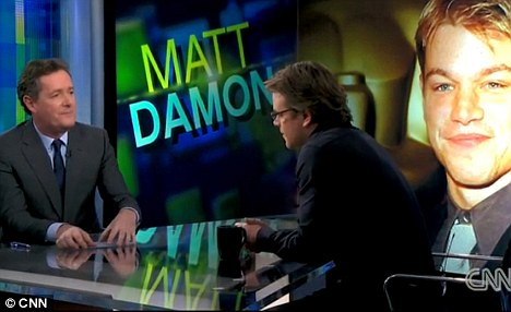 Interview: Damon voiced his disappointment over the way Obama has been running the country to Piers Morgan, particularly in terms of education