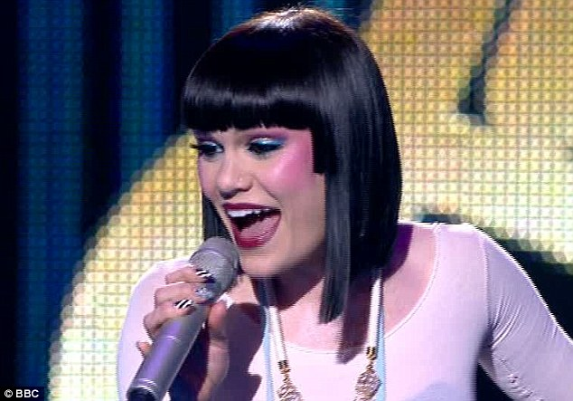On song: Jessie J performed her new single Price Tag on Let's Dance For Comic Relief while the votes were counted