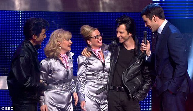 Greased lightning: The Eighties Supergroup even dressed up like characters from the film, with Toyah and Clare in silver catsuits and the boys in Fifties-style leathers - and quiffs