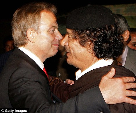 The current training agreement was made possible following Tony Blair's  controversial 'deal in the desert' with Libyan dictator Colonal Gaddafi in 2004