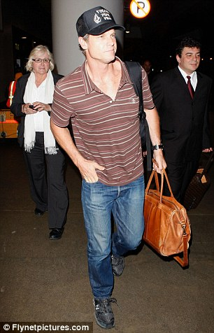 Home sweet home: Courteney, Coco and Van Holt arrived back in Los Angeles last night after their week in Hawaii
