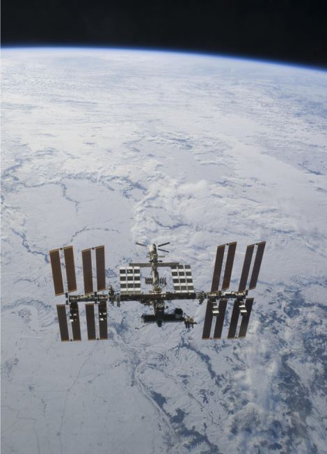 The International Space Station is orbiting more than 200 miles above the earth's surface