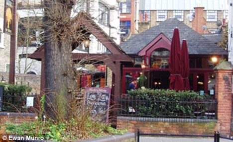 Local: McPartlin was drinking in the Barley Mow pub near his Chiswick home when the incident took place