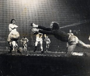 Stand-in goalkeeper Bobby Moore