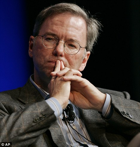 Potential candidiate: Barack Obama is looking at outgoing Google CEO Eric Schmidt, 55, who is worth $7billion, to become his next secretary of commerce