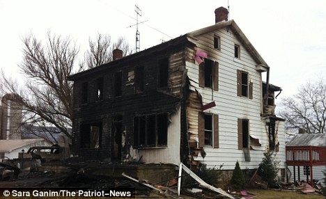 Devastated: The house in Madison Township, Pennsylvania, where the children died on Tuesday, March 8
