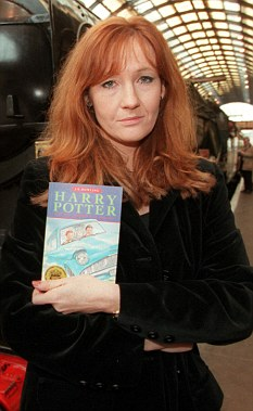 Starting out: Rowling with her second Harry Potter book The Chamber of Secrets in 1999